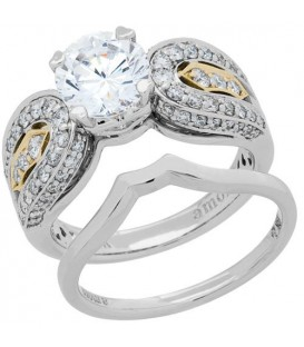 Rings - 1.75 Carat Eternitymark Diamond Bridal Set 18Kt White Gold
