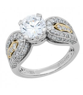 1.78 Carat Round Brilliant Pristine Hearts Diamond Ring 18Kt White Gold