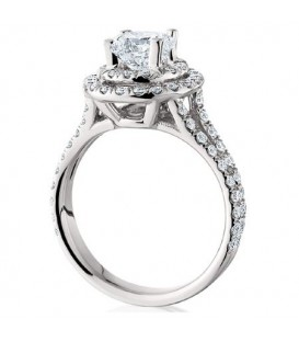 1.52 Carat Round Brilliant Eternitymark Diamond Ring 18Kt White Gold