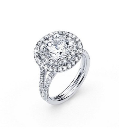 Rings - 2.41 Carat Round Brilliant Eternitymark Diamond Ring 18Kt White Gold