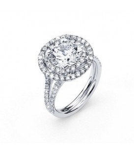 More about 2.41 Carat Round Brilliant Eternitymark Diamond Ring 18Kt White Gold