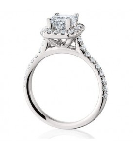 1.41 Carat Princess Cut Eternitymark Diamond Ring 18Kt White Gold