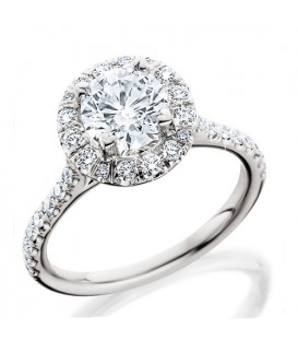 rings 101 carat round brilliant eternitymark diamond ring 18kt white gold - Most Popular Wedding Rings