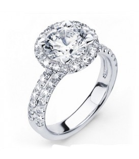 More about 2.15 Carat Round Brilliant Eternitymark Diamond Ring 18Kt White Gold