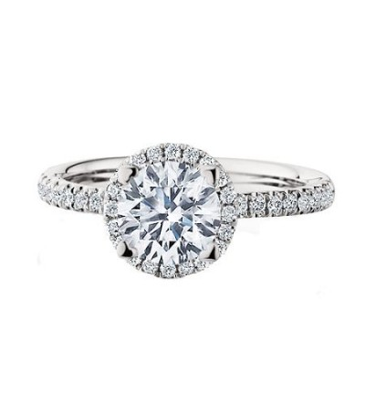 1.31 Carat Round Brilliant Eternitymark Diamond Ring 18Kt White Gold