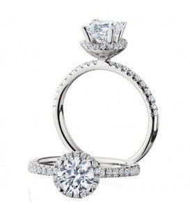 More about 1.04 Carat Round Brilliant Halo Diamond Ring 18Kt White Gold