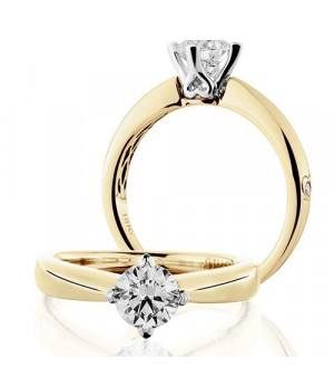 Rings - 0.75 Carat Round Brilliant Diamond Solitaire Ring 18Kt Yellow Gold