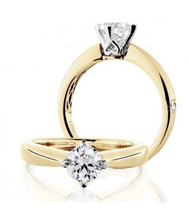More about 0.75 Carat Round Brilliant Eternitymark Diamond Solitaire Ring 18Kt Yellow Gold