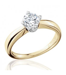 0.75 Carat Round Brilliant Eternitymark Diamond Solitaire Ring 18Kt Yellow Gold