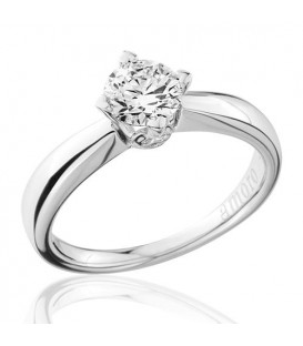 0.75 Carat Round Brilliant Diamond Solitaire Ring 18Kt White Gold