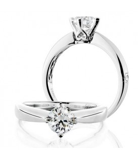 More about 0.75 Carat Round Brilliant Eternitymark Diamond Solitaire Ring 18Kt White Gold