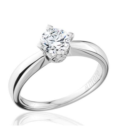 0.75 Carat Round Brilliant Eternitymark Diamond Solitaire Ring 18Kt White Gold