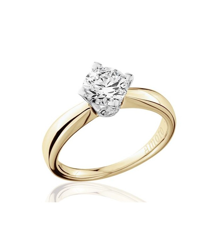 in solitaire rings forevermark gold ring diamond white