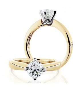 More about 1 Carat Round Brilliant Eternitymark Diamond Solitaire Ring 18Kt Yellow Gold
