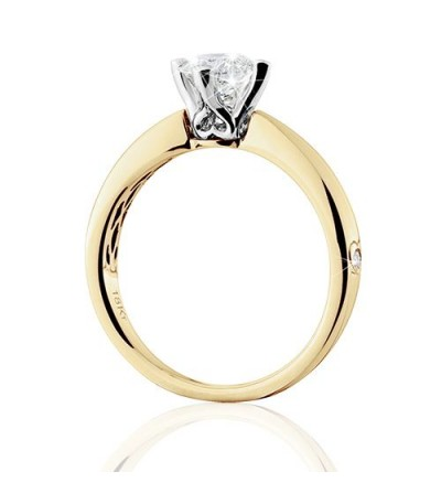 1 Carat Round Brilliant Eternitymark Diamond Solitaire Ring 18Kt Yellow Gold