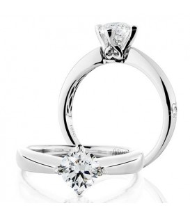 Rings - 1 Carat Round Brilliant Eternitymark Diamond Ring 18Kt White Gold