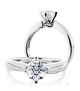 More about 1.07 Carat Round Brilliant Pristine Hearts Diamond Ring 18Kt White Gold
