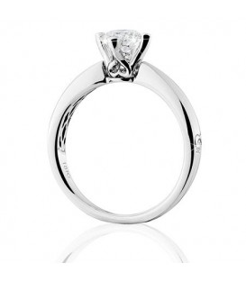 1.07 Carat Round Brilliant Pristine Hearts Diamond Ring 18Kt White Gold