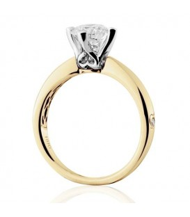 1.50 Carat Round Brilliant Diamond Ring 18Kt Yellow Gold