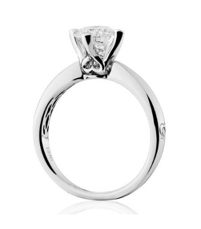 1.50 Carat Round Brilliant Diamond Ring 18Kt White Gold