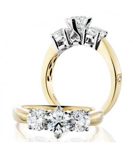 More about 1.51 Carat Round Brilliant Eternitymark Three Stone Diamond Ring 18Kt Yellow Gold