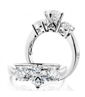 More about 2.00 Carat Round Brilliant Eternitymark Three Stone Diamond Ring 18Kt White Gold