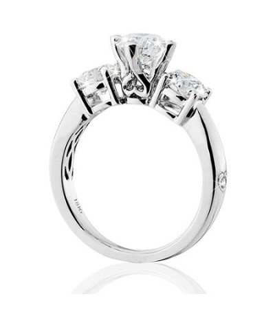 2.00 Carat Round Brilliant Eternitymark Three Stone Diamond Ring 18Kt White Gold