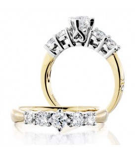 More about 0.50 Carat Round Brilliant Eternitymark Five Stone Diamond Ring 18Kt Yellow Gold