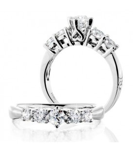More about 0.50 Carat Round Brilliant Eternitymark Five Stone Diamond Ring 18Kt White Gold