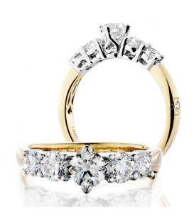 More about 1.50 Carat Round Brilliant Eternitymark Five Stone Diamond Ring 18Kt Yellow Gold