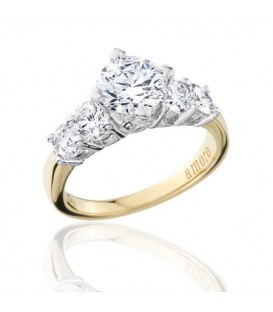 2 Carat Round Brilliant Eternitymark Five Stone Diamond Ring 18Kt Yellow Gold