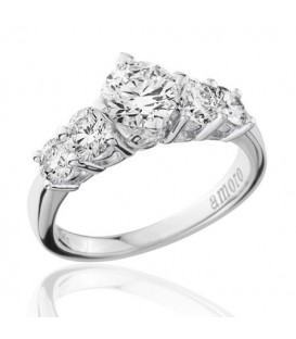 2 Carat Round Brilliant Diamond Ring 18Kt White Gold