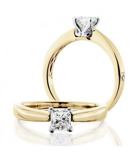 More about 0.50 Carat Princess Cut Diamond Solitaire Ring 18Kt Yellow Gold
