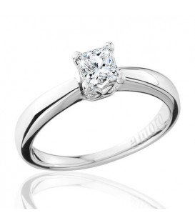 0.50 Carat Princess Cut Eternitymark Diamond Solitaire Ring 18Kt White Gold