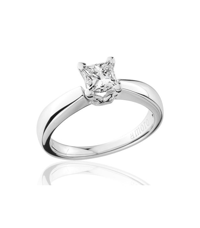 gold engagement ring carat k white cut diamond rings princess dp solitaire