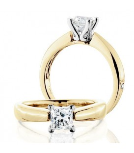 More about 1 Carat Princess Cut Eternitymark Diamond Solitaire Ring 18Kt Yellow Gold
