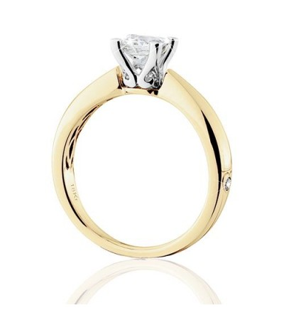 1 Carat Princess Cut Eternitymark Diamond Solitaire Ring 18Kt Yellow Gold