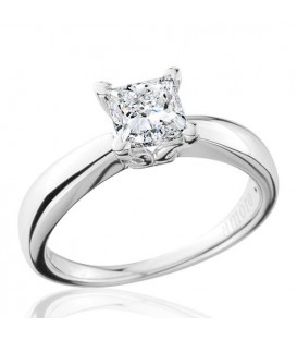 1 Carat Princess Cut Eternitymark Diamond Solitaire Ring 18Kt White Gold