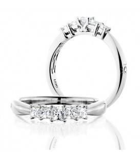Rings - 0.50 Carat Princess Cut Eternitymark Five Stone Diamond Ring 18Kt White Gold