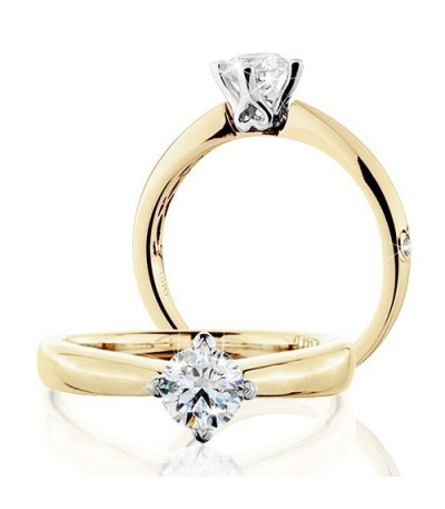 Rings - 0.50 Carat Round Brilliant Eternitymark Diamond Solitaire Ring 18Kt Yellow Gold
