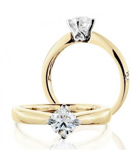 More about 0.50 Carat Round Brilliant Eternitymark Diamond Solitaire Ring 18Kt Yellow Gold