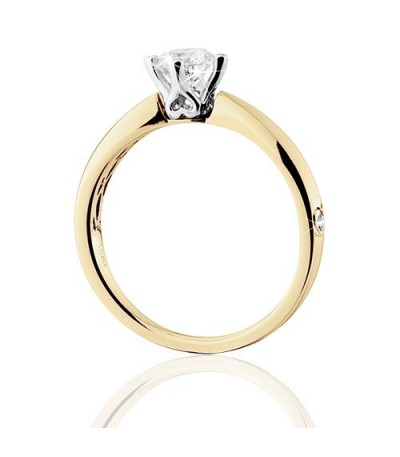 0.50 Carat Round Brilliant Eternitymark Diamond Solitaire Ring 18Kt Yellow Gold