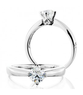 Rings - 0.50 Carat Round Brilliant Eternitymark Diamond Solitaire Ring 18Kt White Gold