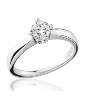 0.50 Carat Round Brilliant Eternitymark Diamond Solitaire Ring 18Kt White Gold