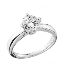 1.25 Carat Round Brilliant Diamond Ring 18Kt White Gold