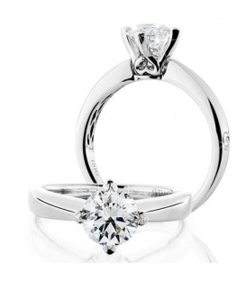 Rings - 1.25 Carat Round Brilliant Eternitymark Diamond Ring 18Kt White Gold
