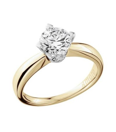 1.25 Carat Round Brilliant Diamond Ring 18Kt Yellow Gold