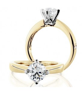 Rings - 1.25 Carat Round Brilliant Eternitymark Diamond Ring 18Kt Yellow Gold