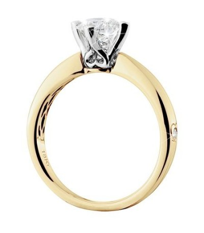 1.25 Carat Round Brilliant Eternitymark Diamond Ring 18Kt Yellow Gold