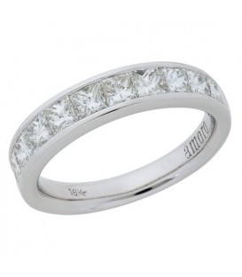 1.51 Carat Princess Cut Eternitymark Diamond Ring 18Kt White Gold
